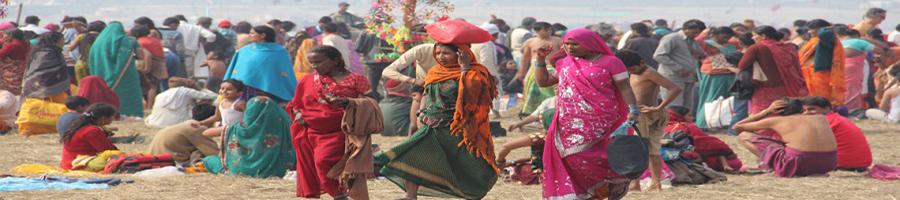 Gente en la Kumba Mela