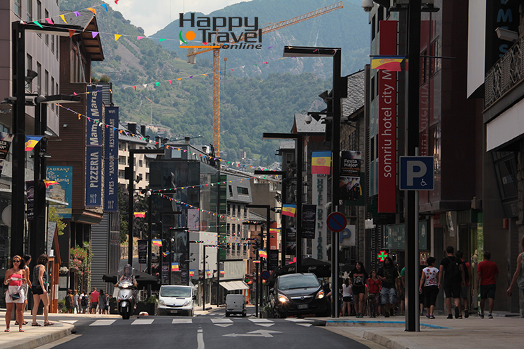 Calle principal de Andorra