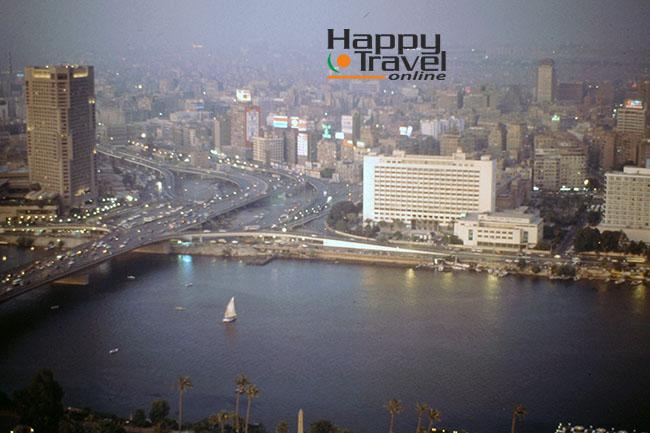 Panoramica desde las alturas de El Cairo