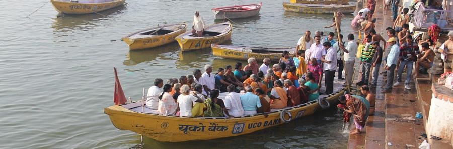 Imagenes de peregrinos en Varanasi