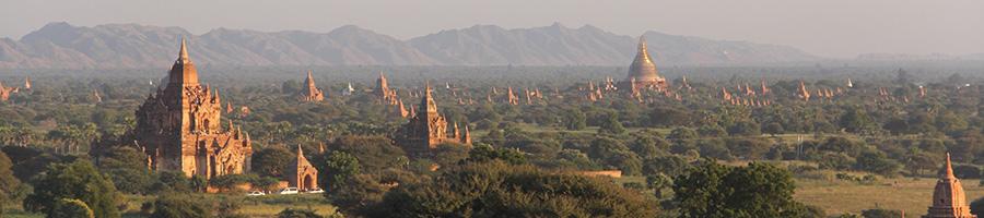 Explanda de pagodas en Bagan