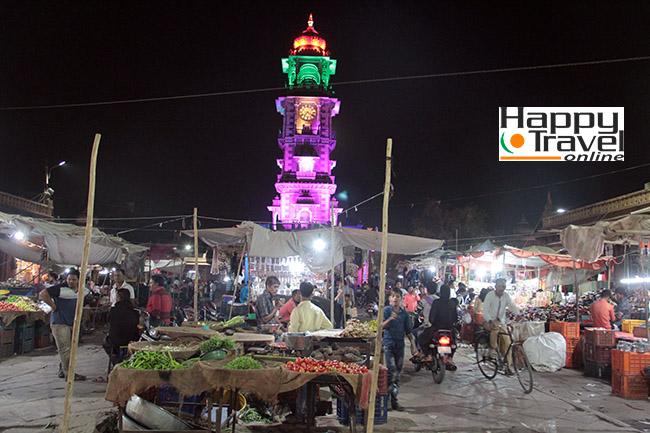 Imágenes de Jodhpur en la noche